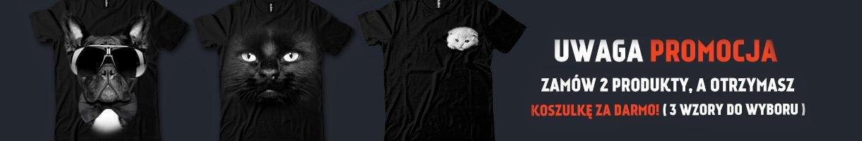 Promocja, kup 2 koszulki, 3 gratis