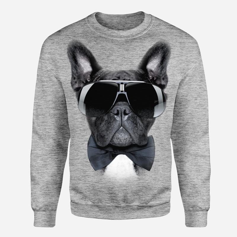 Buldog francuski w okularach-wyp - Tulzo