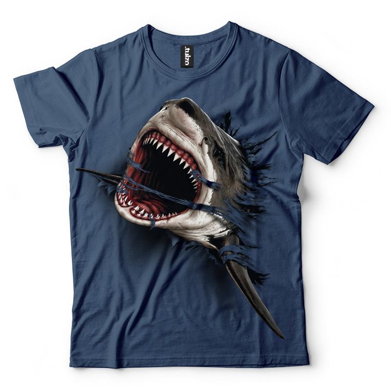 Shark Attack indigo - Tulzo