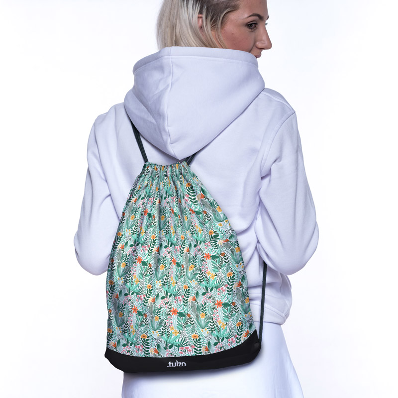Plecak (worek) Botaniczny zielony - Tulzo