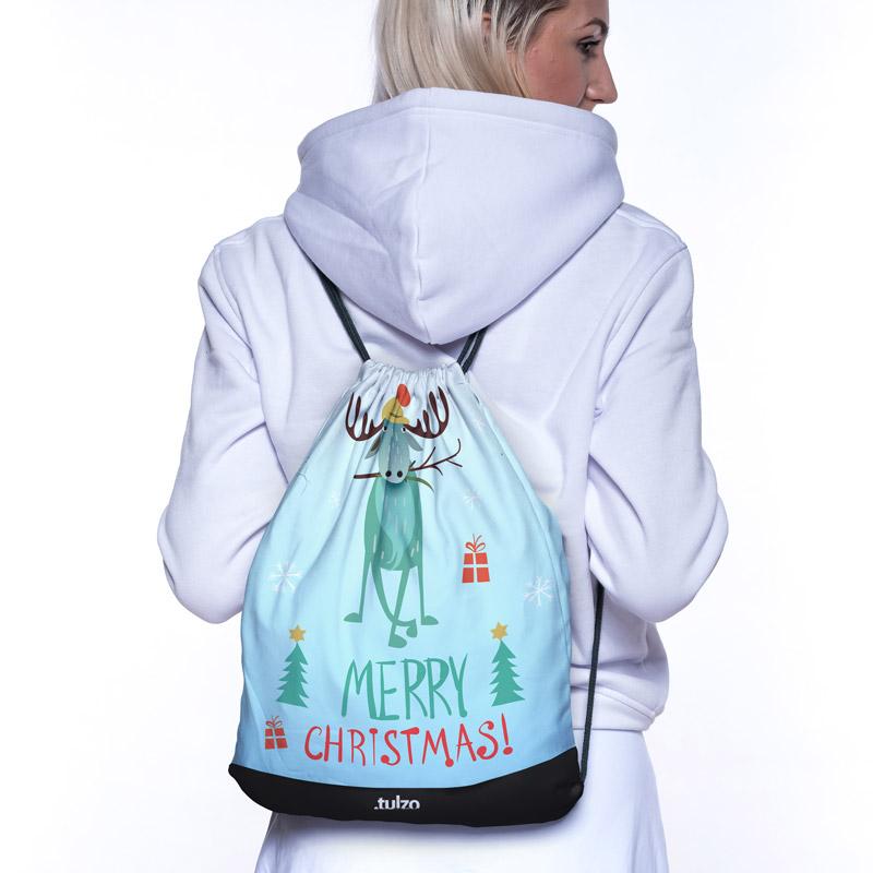 Plecak (worek) Świąteczny łoś - Tulzo