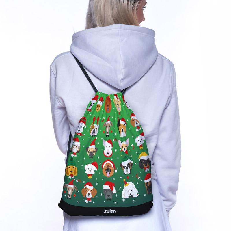 Plecak (worek) Świąteczne psy - Tulzo
