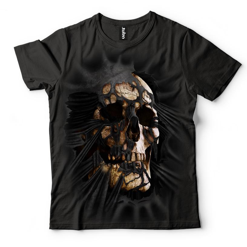 Czaszka wychodząca z koszulki - Tulzo