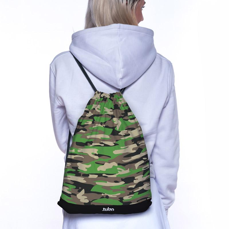 Plecak (worek) Brązowo zielone moro - Tulzo