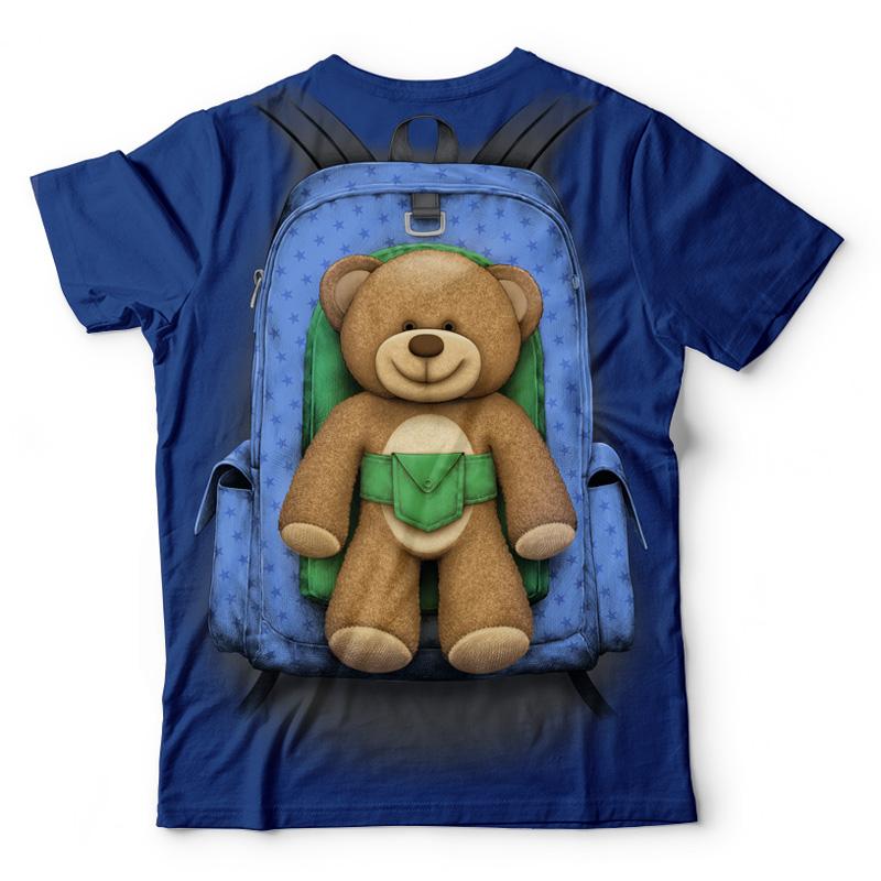 Plecak z misiem dla chłopca - Tulzo