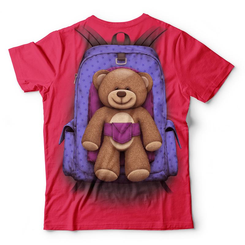 Plecak z misiem dla dziewczynki - Tulzo