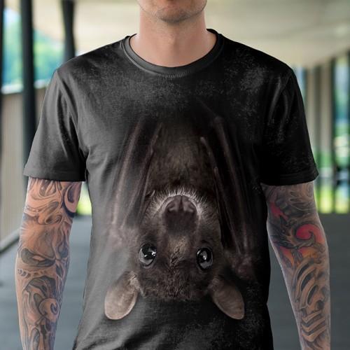 Koszulka z Nietoperzem | Nietoperz | Koszulki ze zwierzętami 3D | Tulzo - Tulzo