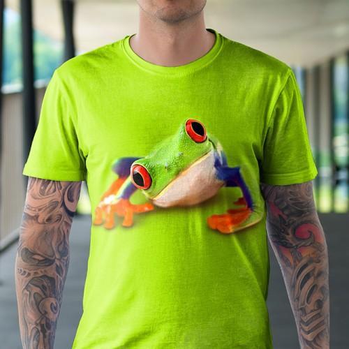 Koszulka z Żabą | Żaba | Żabka | Patrzy | Koszulki 3d | Koszulka 3d | t-shirt 3d | t-shirts 3d - Tulzo