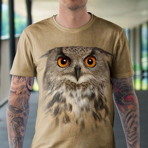 Koszulka z sową | Sowa | Sowy | Sowami | Koszulki ze zwierzętami 3D | Tulzo - Tulzo
