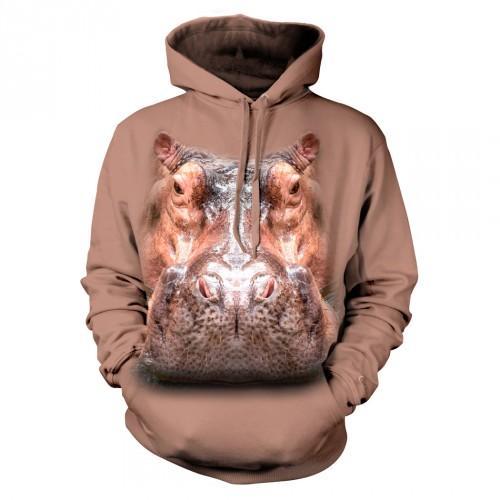 Bluza z Hipopotamem | Bluza | Bluzy | Bluzy 3D | Bluza 3D - Tulzo
