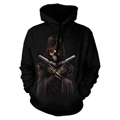 Bluza z Śmiercią z pistoletami | Bluza | Bluzy | Bluzy 3D | Bluza 3D - Tulzo
