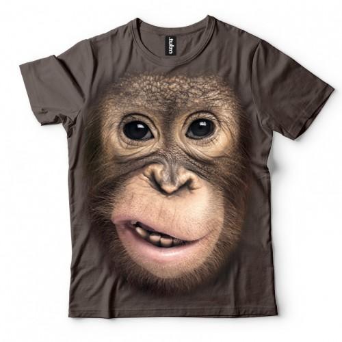 Koszulka z Orangutanem | Orangutan | Koszulki 3d | Koszulka 3d | t-shirt 3d | t-shirts 3d | - Tulzo