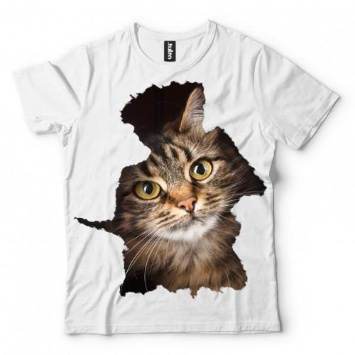 Koszulka z Zerkającym Kotkem - Tulzo