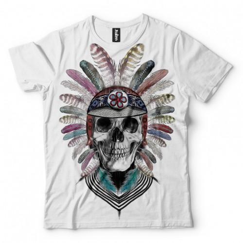 Koszulka z Czaszką z Piórami - Tulzo