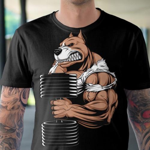 Koszulka z Psem z Hantlą - Tulzo