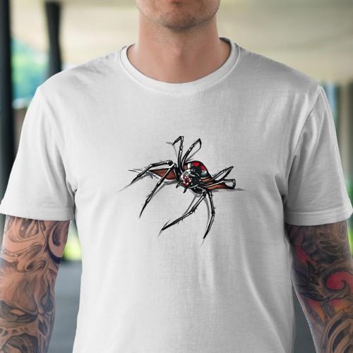 Koszulka Pająk rozrywający koszulkę - Koszulki i bluzy 3D, T-shirty, tshirty, koszulki 3D z nadrukiem, koszulki damskie, koszulki męskie, koszulka, koszulki - Tulzo