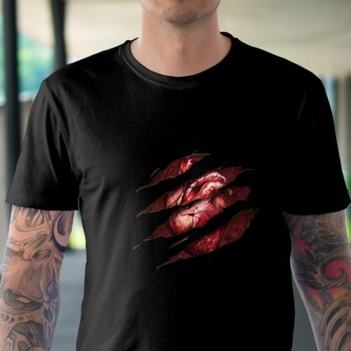 Koszulka Serce Organ - Straszne - Horror - Koszulki i bluzy 3D, T-shirty, tshirty, koszulki 3D z nadrukiem, koszulki damskie, koszulki męskie, koszulka, koszulki - Tulzo