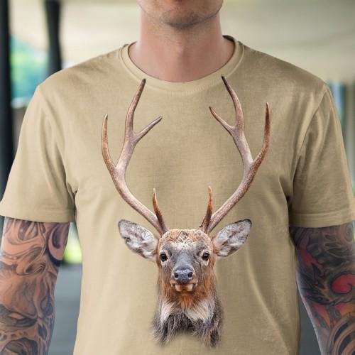 Koszulka Jeleń - Koszulki i bluzy 3D, T-shirty, tshirty, koszulki 3D z nadrukiem, koszulki damskie, koszulki męskie, koszulka, koszulki - Tulzo