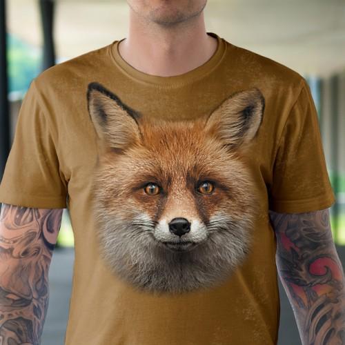 Koszulka Lisek- Koszulki i bluzy 3D, T-shirty, tshirty, koszulki 3D z nadrukiem, koszulki damskie, koszulki męskie, koszulka, koszulki - Tulzo