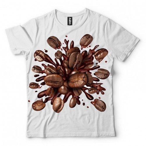 Koszulka Plusk Kawy - Koszulki i bluzy 3D, T-shirty, tshirty, koszulki 3D z nadrukiem, koszulki damskie, koszulki męskie, koszulka, koszulki - Tulzo