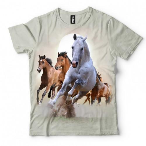 Koszulka z Końmi | Konie | Koniami | Koszulki 3d | Koszulka 3d | t-shirt 3d | t-shirts 3d - Tulzo