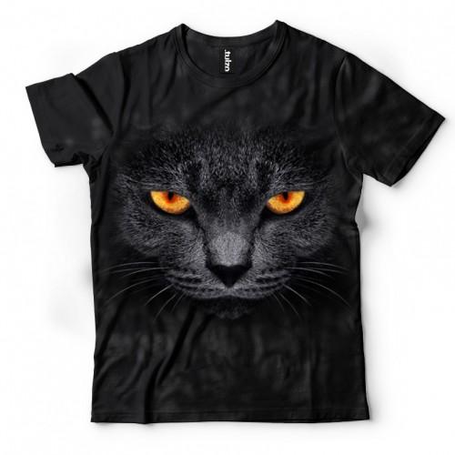 Koszulka ze Złym Kotem | Kot | Koszulki 3d | Koszulka 3d | t-shirt 3d | t-shirts 3d | koszulki damskie | koszulki męskie | koszulki dla dzieci | - Tulzo