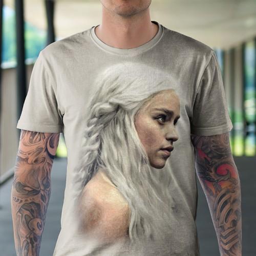 Koszulka z Daenerys | Denerys | Gra o tron | Koszulki 3d | Koszulka 3d | t-shirt 3d | t-shirts 3d - Tulzo
