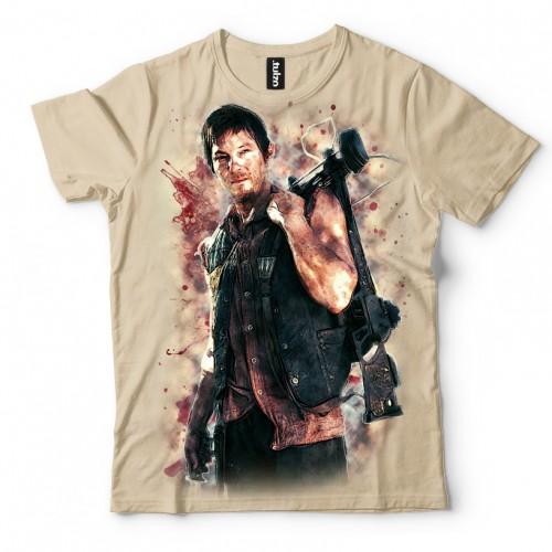 Koszulka z Darylem | Daryl | Walking Dead | Zombi | Koszulki 3d | Koszulka 3d | t-shirt 3d | t-shirts 3d - Tulzo