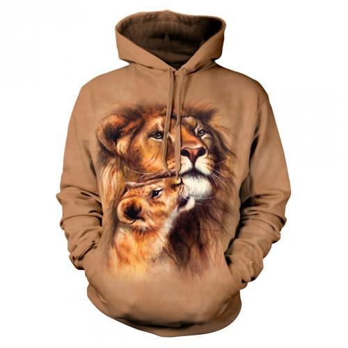 Bluza z Lewem i lwiątkiem | Bluza | Bluzy | Bluzy 3D | Bluza 3D - Tulzo
