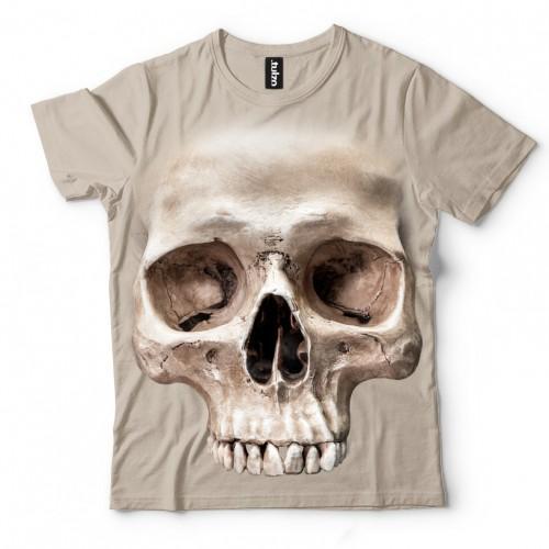 Koszulka z Czaszką Naturalna - Tulzo