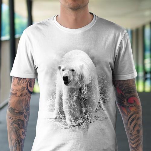 Koszulka Basic z Niedźwiedziem Polarnym - Tulzo