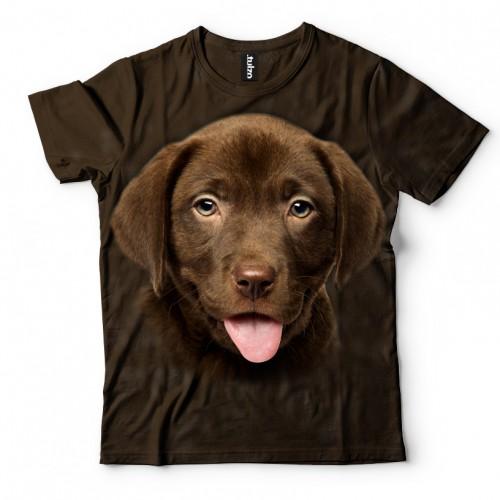Koszulka z Labradorem szczeniakiem czekoladowy | Labrador czekoladowy | Koszulki 3d | Koszulka 3d | t-shirt 3d | t-shirts 3d - Tulzo