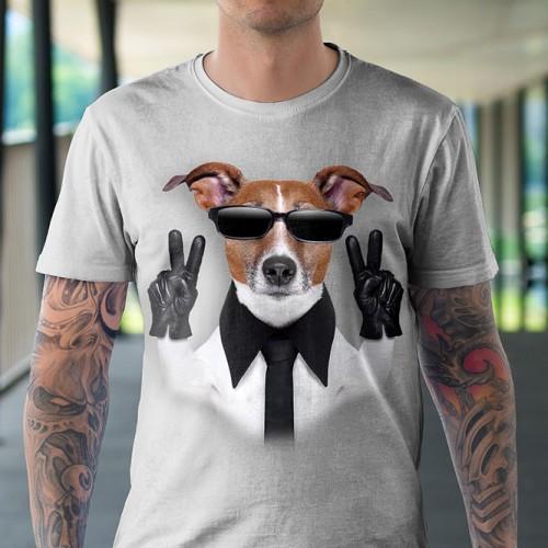 Koszulka z Psem Sukcesu | Pies | Psami | Psy | Koszulki 3d | Koszulka 3d | t-shirt 3d | t-shirts 3d - Tulzo