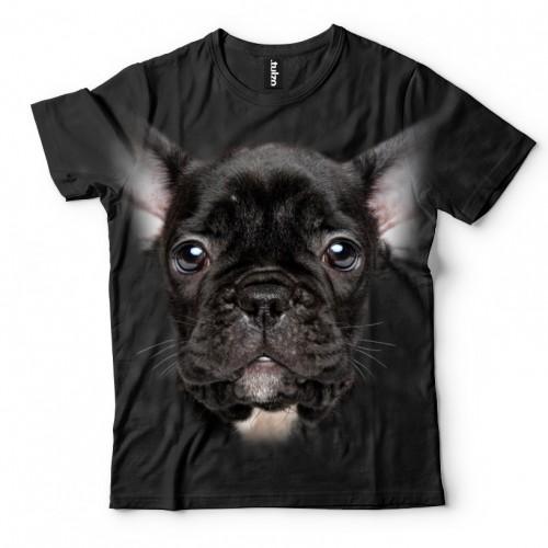 Koszulka z Szczeniakiem Czarnym | Koszulki 3d | Koszulka 3d | t-shirt 3d | t-shirts 3d - Tulzo