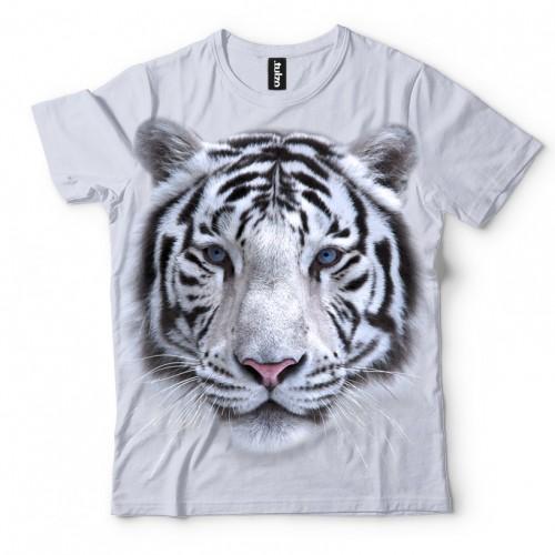 Koszulka z Tygrysem Syberyjskim Białym | Tygrys | Koszulki 3D | Tulzo | - Tulzo