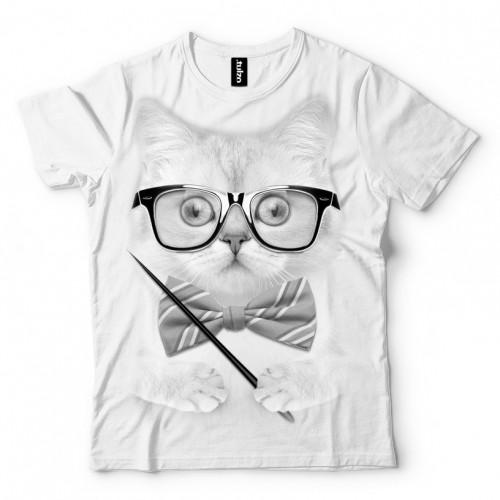Koszulka Basic z Kotem Nauczycielem - Tulzo