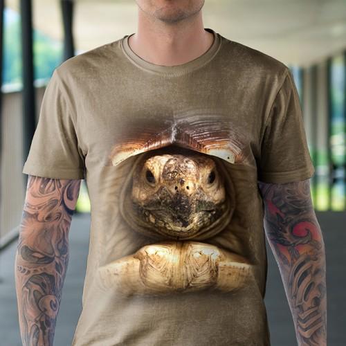 Koszulka z Żółwiem   Żółw     Koszulki ze zwierzętami 3D   Tulzo - Tulzo