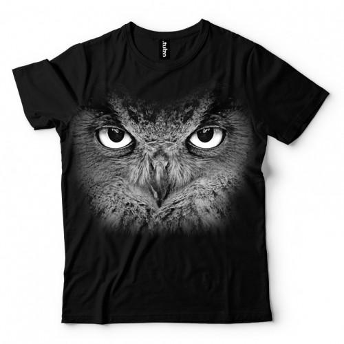 Koszulka Basic z Czarną Sową - Tulzo