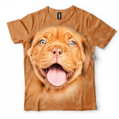 Koszulka z Dogiem z Bordeaux | Dog z Bordeaux | Koszulki 3D | Tulzo | - Tulzo