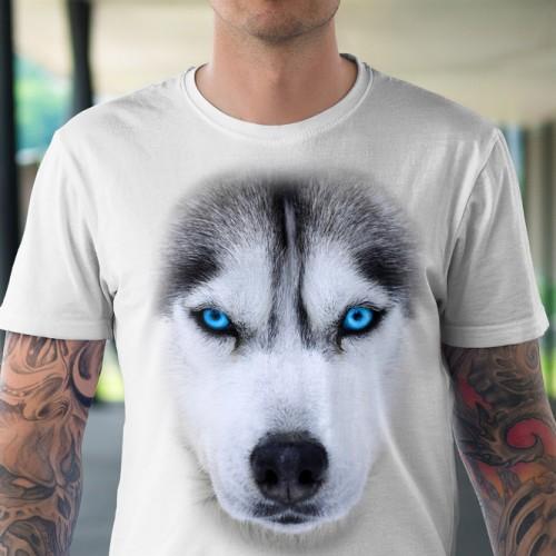 Koszulka z Husky | Siberian Malamute | Koszulki z psami 3D | Tulzo | - Tulzo