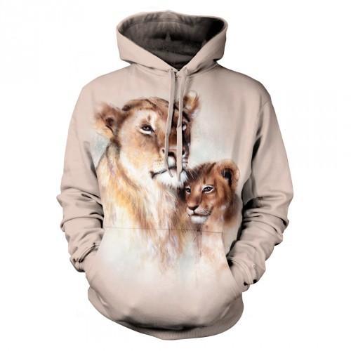 Bluza z Lwicą z lwiątkiem | Bluza | Bluzy | Bluzy 3D | Bluza 3D - Tulzo