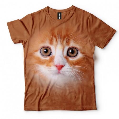 Koszulka z rudym kotkiem | Kot | Koty | Kotami | Kotki | Kotem | Koszulki ze zwierzętami 3D | Tulzo - Tulzo
