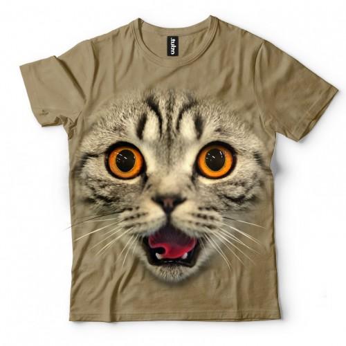 Koszulka ze Zdziwionym Kotem - zdziwiony kot | Kot | Kotami | Koty | Kotki | Kotem | Koszulki ze zwierzętami 3D | Tulzo - Tulzo