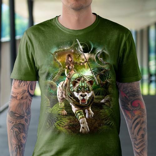 Koszulka z Walecznym Tygrysem | Tygrys | Koszulki ze zwierzętami 3D | Tulzo - Tulzo