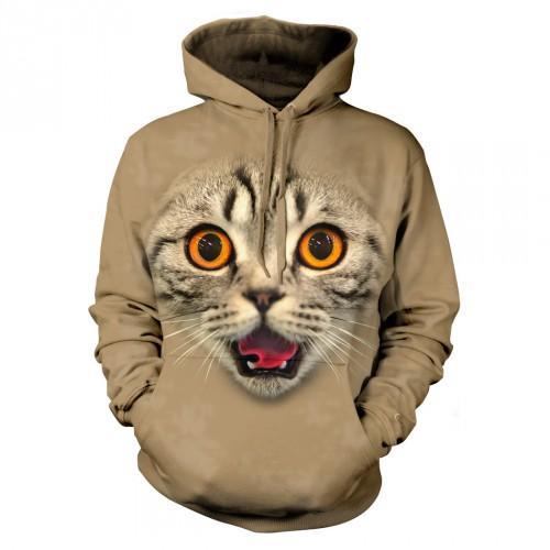 Bluza z Zdziwionym Kotem | Bluza | Bluzy | Bluzy 3D | Bluza 3D - Tulzo