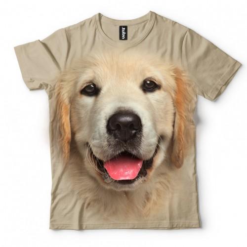 Koszulka z Golden Retriever | Koszulki ze zwierzętami 3D | Tulzo - Tulzo