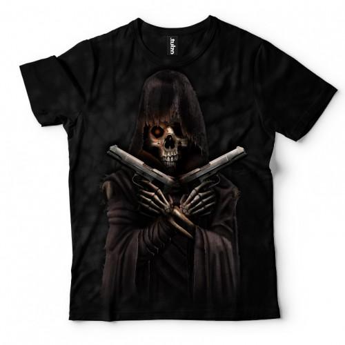 Koszulka z Śmiercią z pistoletami | Koszulki z śmiercią | Tulzo - Tulzo