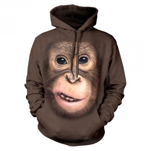 Bluza z Orangutanem | Orangutan | małpa | małpka | Bluzy 3D | Tulzo - Tulzo