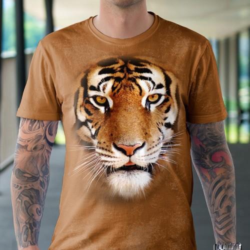 Koszulka z Tygrysem   Tygrys   Koszulki 3d   Koszulka 3d   t-shirt 3d   t-shirts 3d - Tulzo