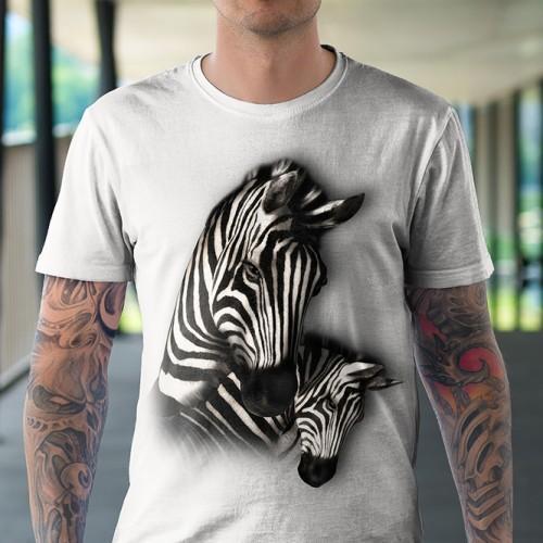 Koszulka z Zebrami | Zebry | Zebra | Koszulki ze zwierzętami 3D | Tulzo - Tulzo